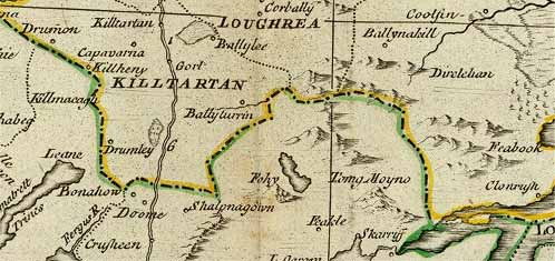 Detail from Rocque map of Ireland, 1790.