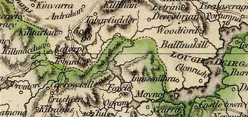 Detail from the Cary map of Ireland, 1799.