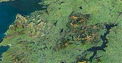 Slieve Aughty satellite photo